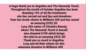 Read more about the article Thank you so much to The Heavenly Touch